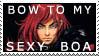 Simon's sexy boa stamp by OpheliaRosenblut