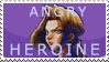 Sonia Angry Heroine stamp by OpheliaRosenblut