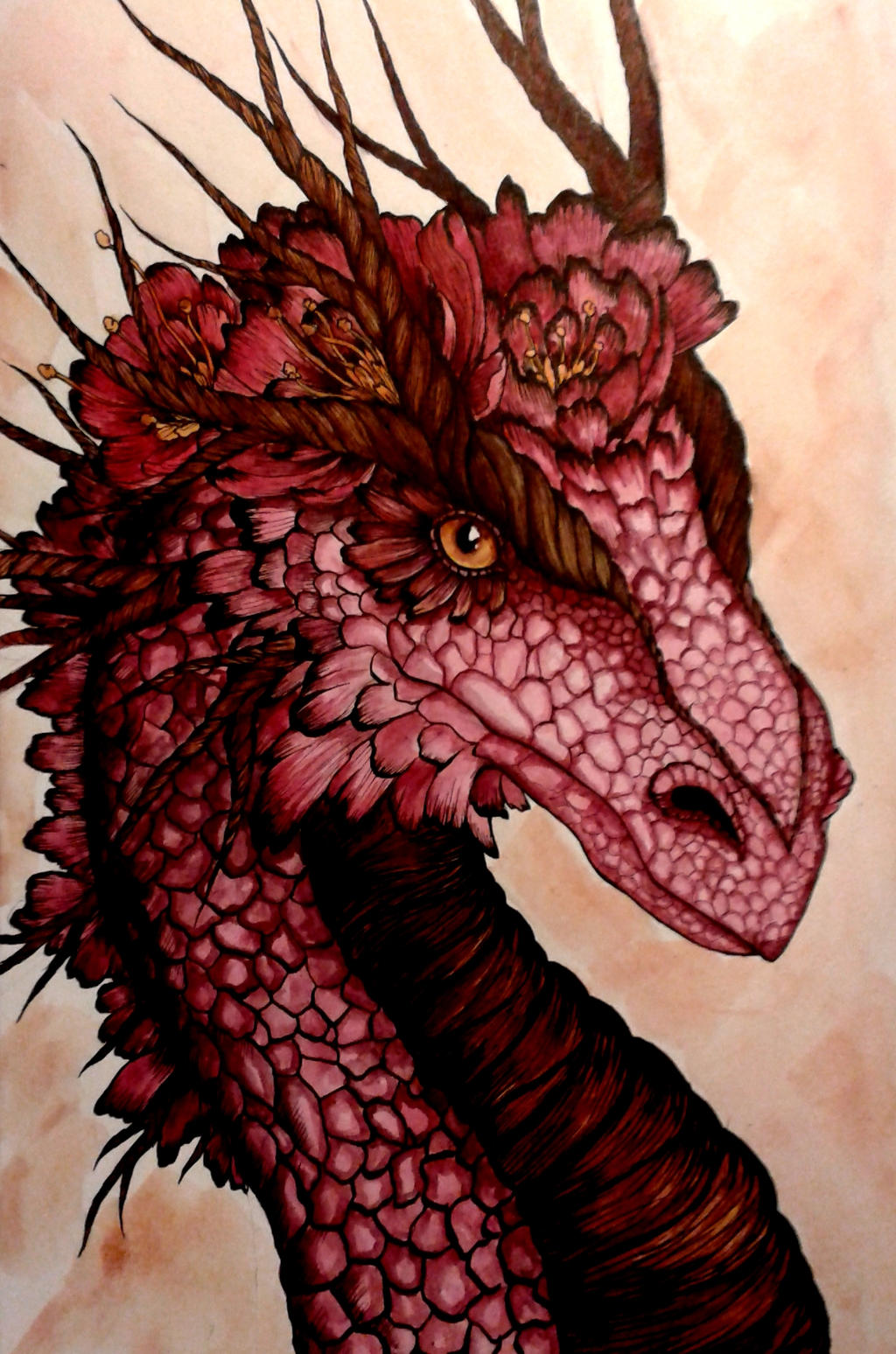 flowers dragon