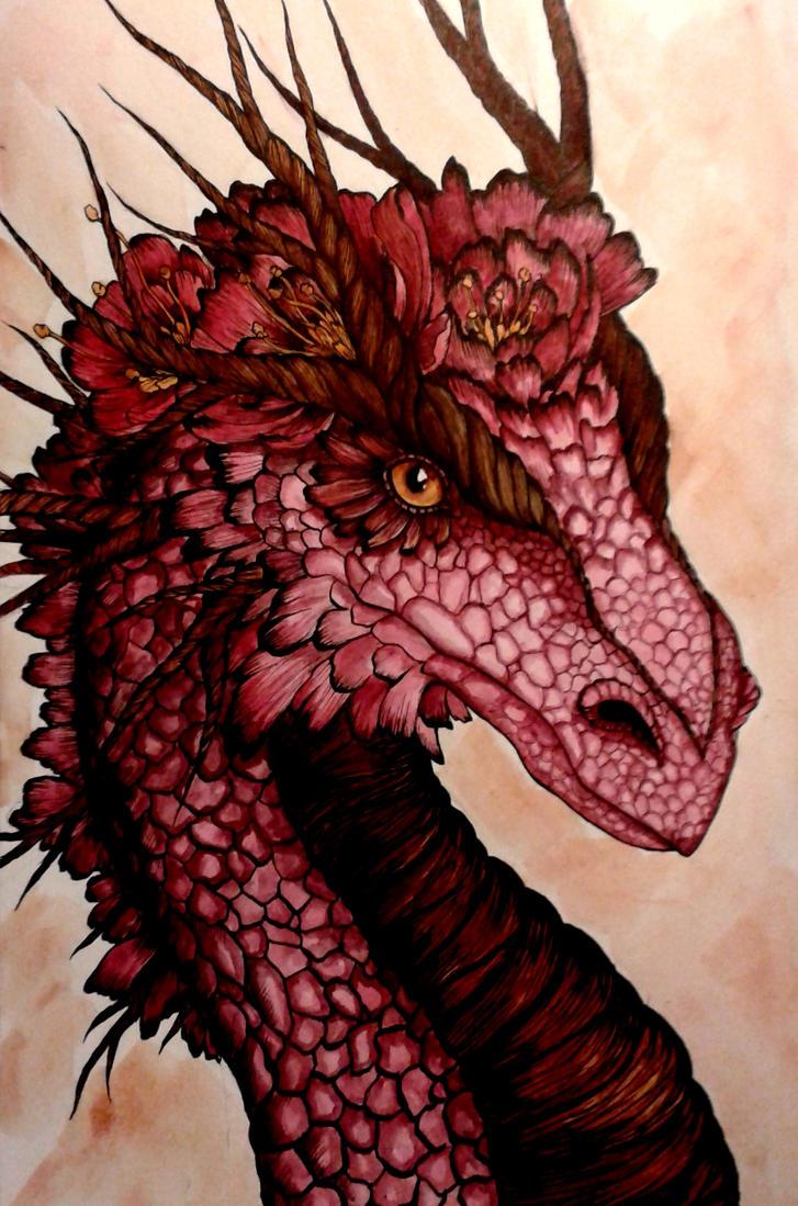 Flower Dragon by Vauhtipatti
