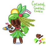 coconut cocktail cookie ( cookierun fanart)