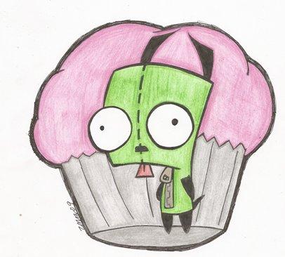 gir and cupcake by nekobattousai on deviantart