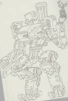 Overwatch-Bastion Sketch by JPHollingsworth