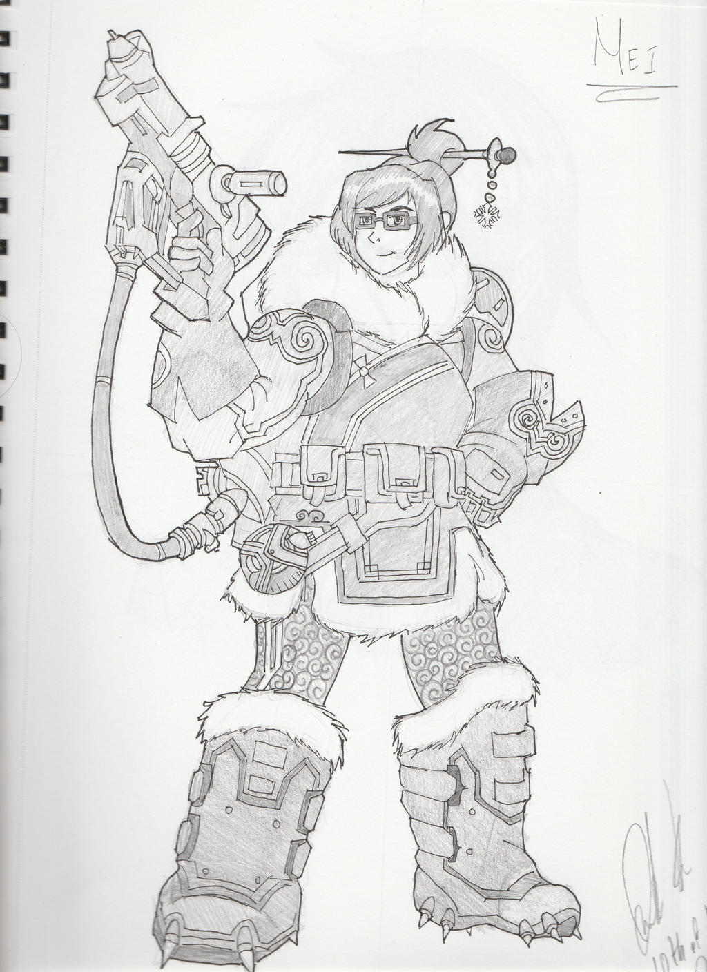 Overwatch Character Sketches Mei By JohnofMythDrannor On DeviantArt