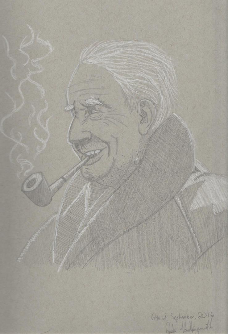 People Studies #6 and Grey Tone #1 J.R.R. Tolkein by JohnHollingsworth