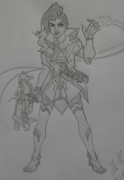 Overwatch Character Sketches: Sombra