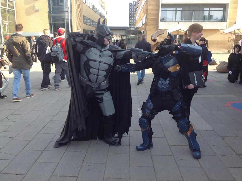 Batman Vs Deathstroke By Pmakara