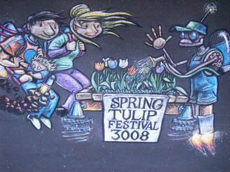 Tulip Festival Chalk Art 1