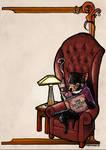 Tasmanian Devil Reading