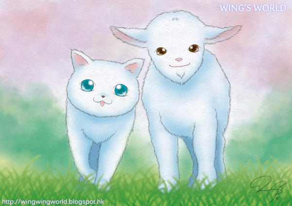 Cat and Friend by wingworld
