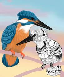Mandala kingfisher