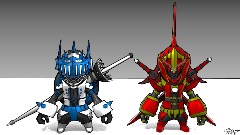 2 Chibi Knight 3D by syahrial777 on DeviantArt