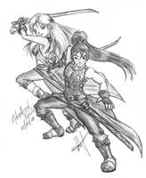 Nostale FanArt: Blades by GhostHead-Nebula