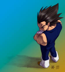 vegeta sketch colored by GhostHead-Nebula