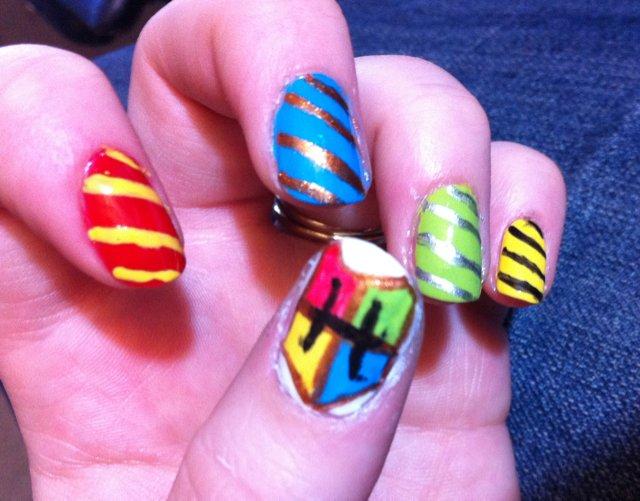 Harry Potter Nail Art by Azralorne