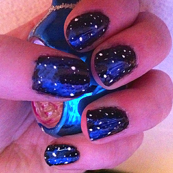 Nail Art Night: Night Sky Nails By Azralorne On DeviantArt
