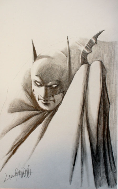 Batman sketch by LivioRamondelli