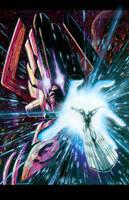 Galactus and Surfer II by LivioRamondelli