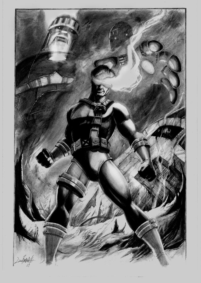 Cyclops vs. Sentinels by LivioRamondelli