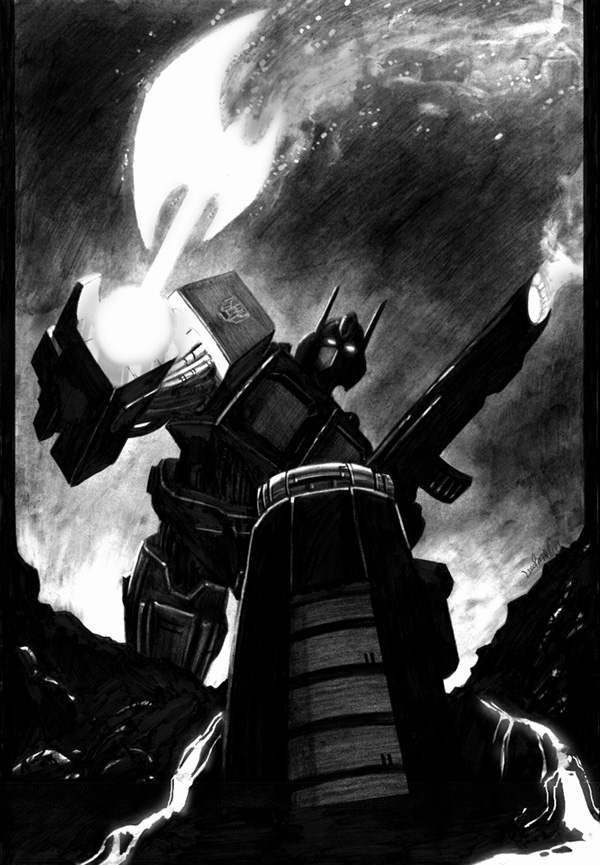 Optimus Prime-axe by LivioRamondelli