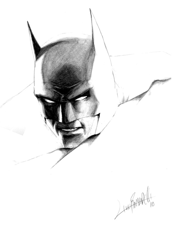 Batman-head sketch by LivioRamondelli