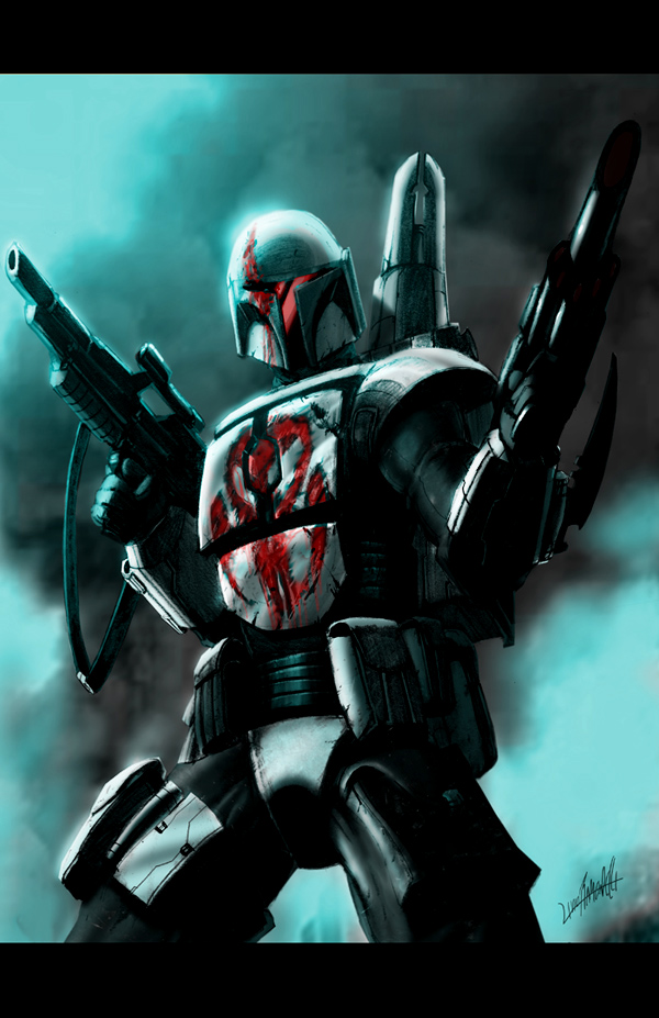 Mandalorian_color by LivioRamondelli
