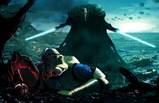 Grievous vs Clonetroopers