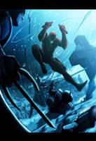 Daredevil Vs Ninjas by LivioRamondelli