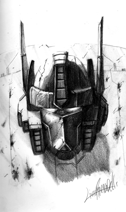 Prime head sketch by LivioRamondelli