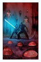 Star Wars Legacy # 7 Cover by LivioRamondelli