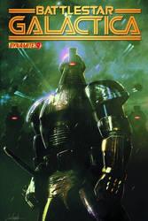 Battlestar Galactica 9 Cover with logo by LivioRamondelli