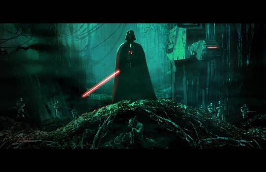 Vader on Dagobah