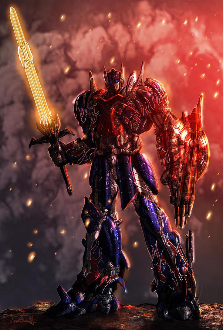 Optimus Prime Age of Extinction style by LivioRamondelli