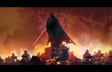 Vader post battle by LivioRamondelli