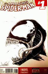 Venom sketch cover by LivioRamondelli