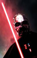 Vader Half Masked by LivioRamondelli