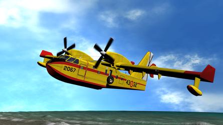 Daz PCaparros CL 145 Sunset Beach Overflight 2 by anthsco