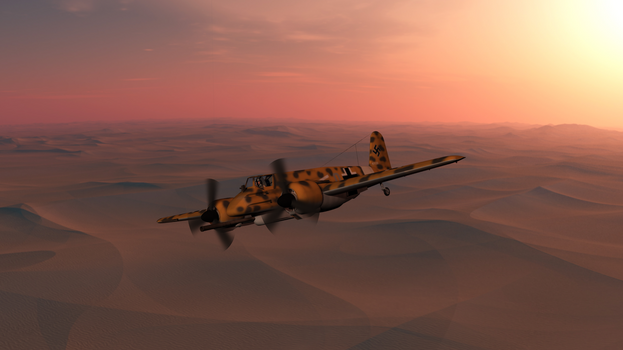 Daz caparros hs 129 dusk desert hunting 1
