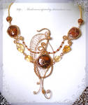 Golden Butterfly with Agates