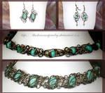 Turquiose Bracelets  Earrings