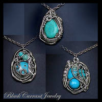 Three Pendants by blackcurrantjewelry