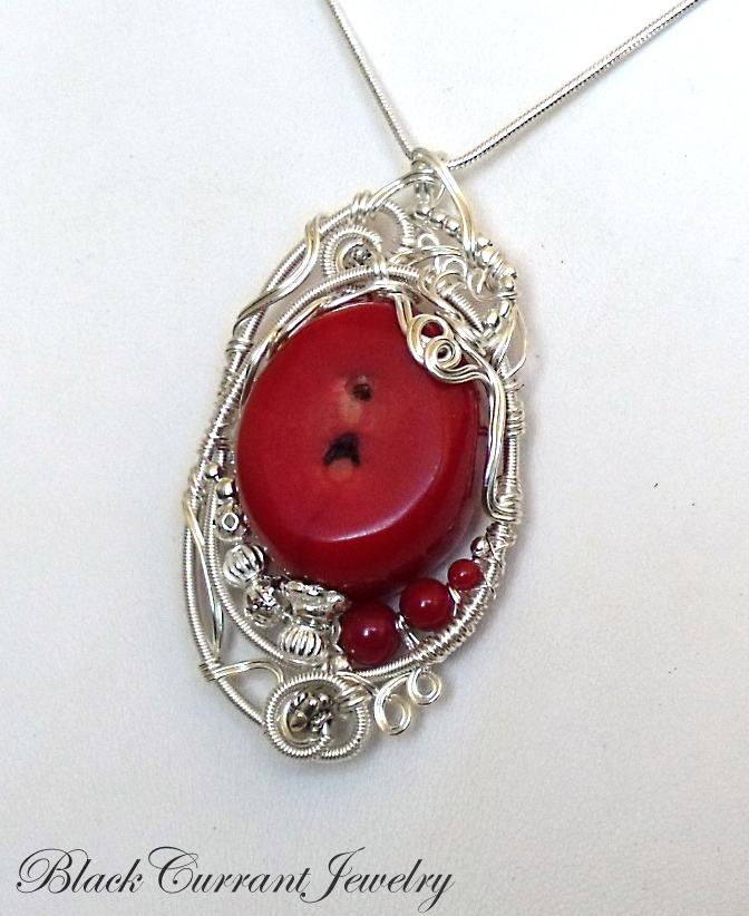 Red Coral Chandelier With 3 Lights: Red Coral Pendant By Blackcurrantjewelry On DeviantArt