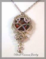 Small Jasper Pendant by blackcurrantjewelry