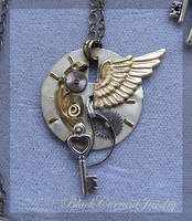 Angel Wing by blackcurrantjewelry