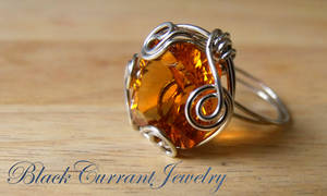 Citrine Ring by blackcurrantjewelry