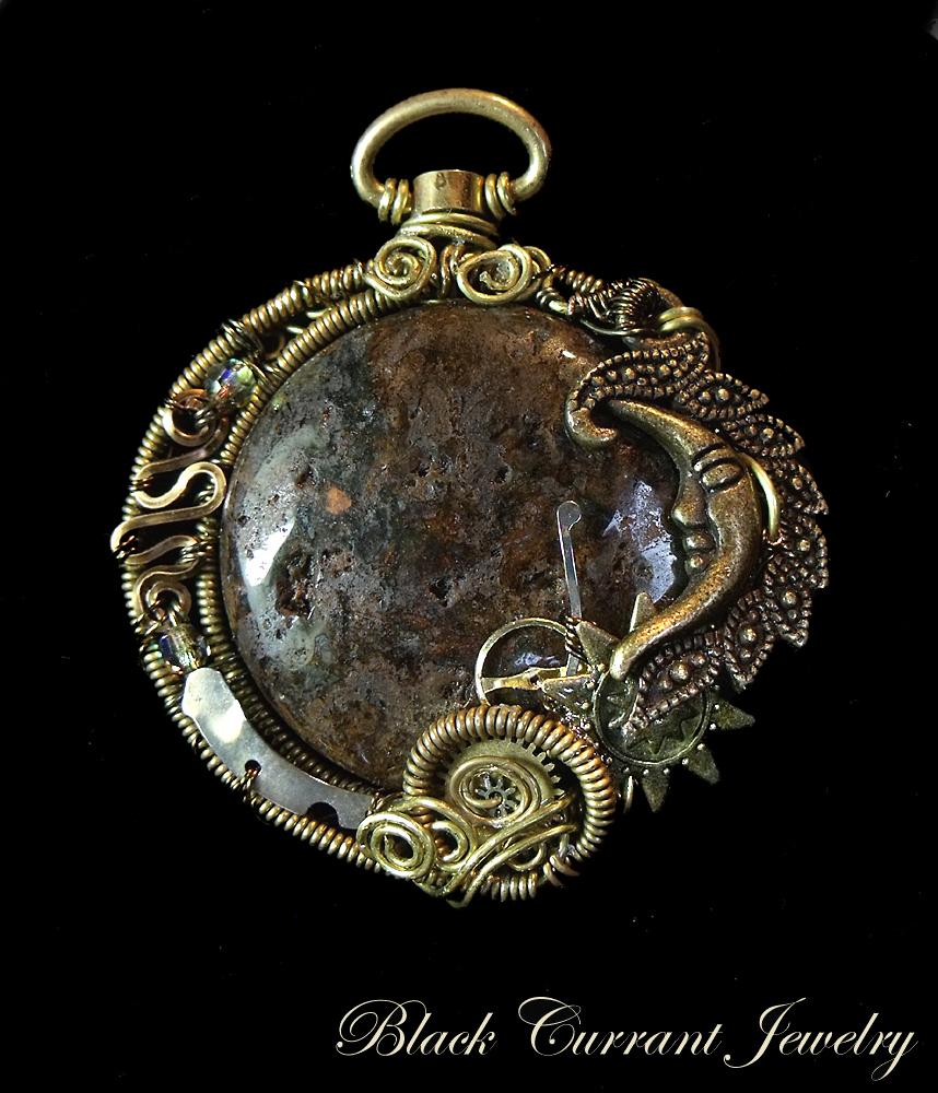 Meteorite Pendant by blackcurrantjewelry