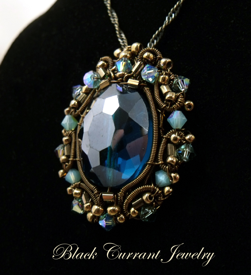 blue pendant crystal anne gorgeous klein products necklace