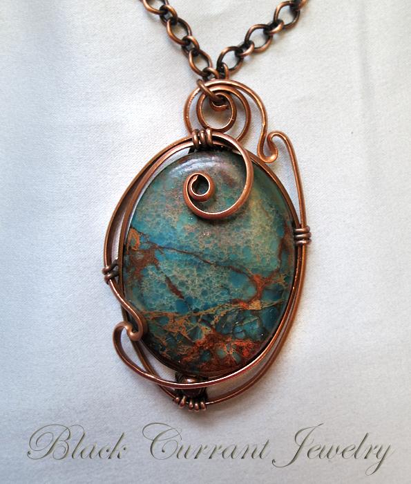 Ocean Jasper Pendant by blackcurrantjewelry
