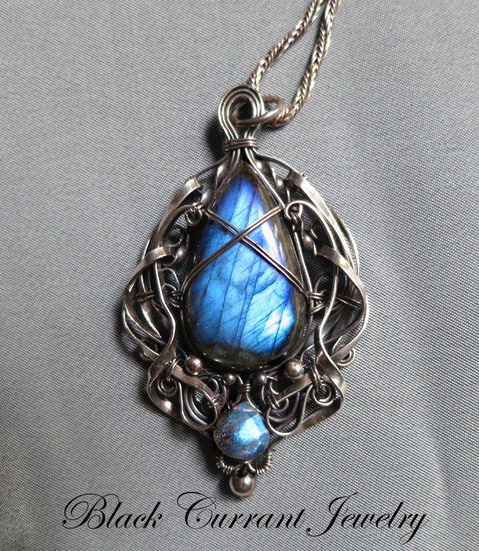 Ultramarine Sky - Labradorite and Srerling Silver by blackcurrantjewelry