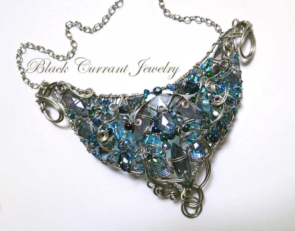 Blue Necklace by blackcurrantjewelry
